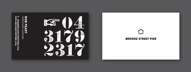Brooke Street Pier Business Card