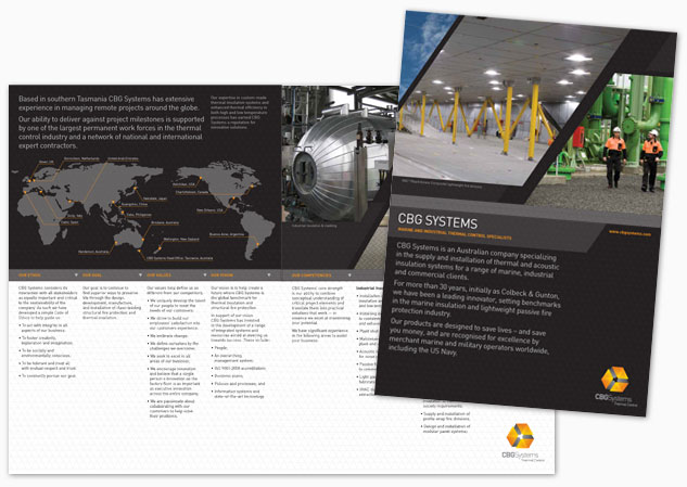 CBG Systems Brochure Design